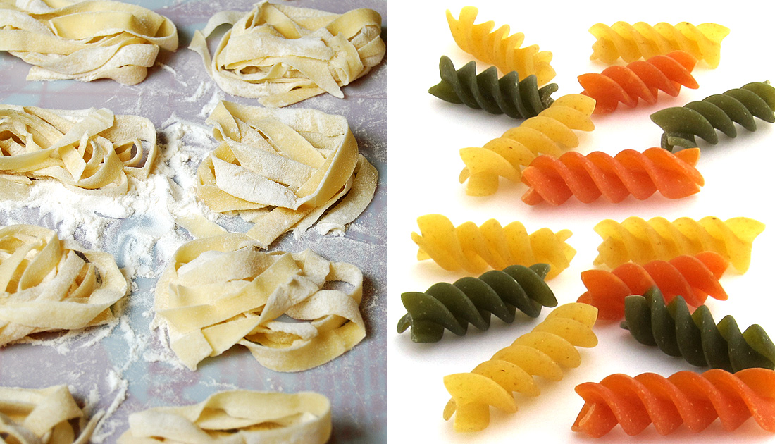 fresh and dried pasta